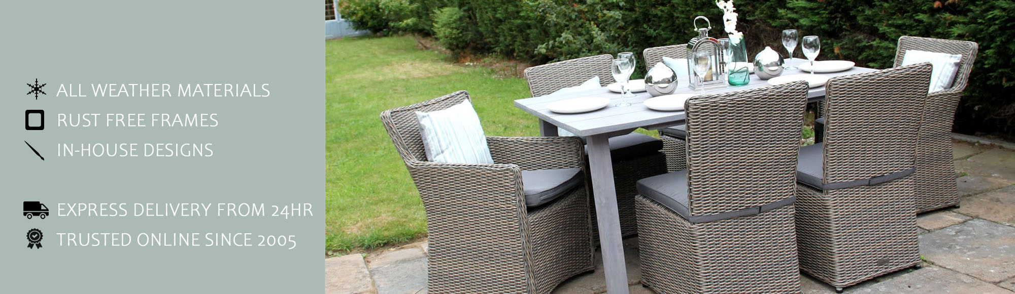 Buy Rattan Dining Set Table Chairs Sets Furniture Sale Uk 2 4 6 8 12 Seater