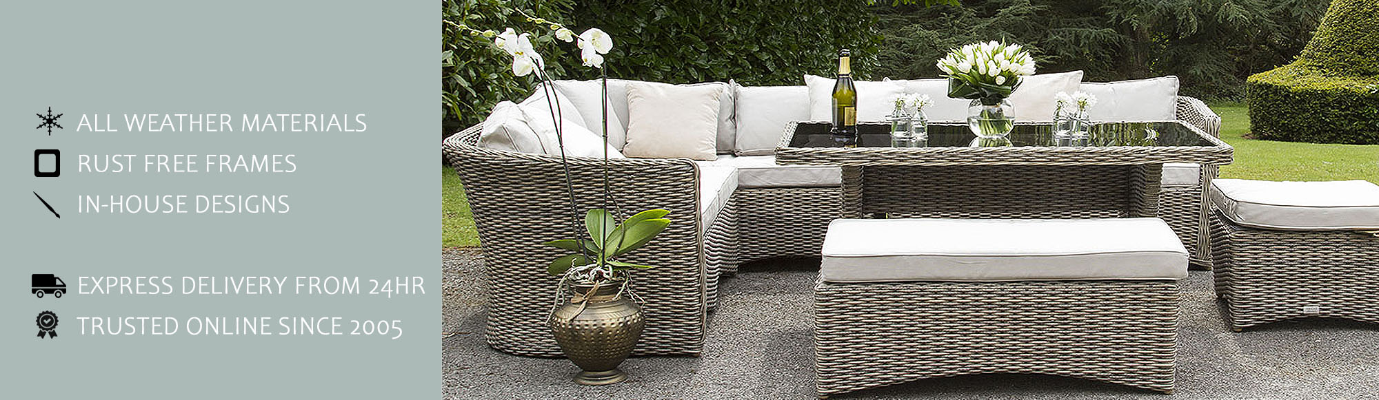 Rattan Corner Dining Sets by featureDECO