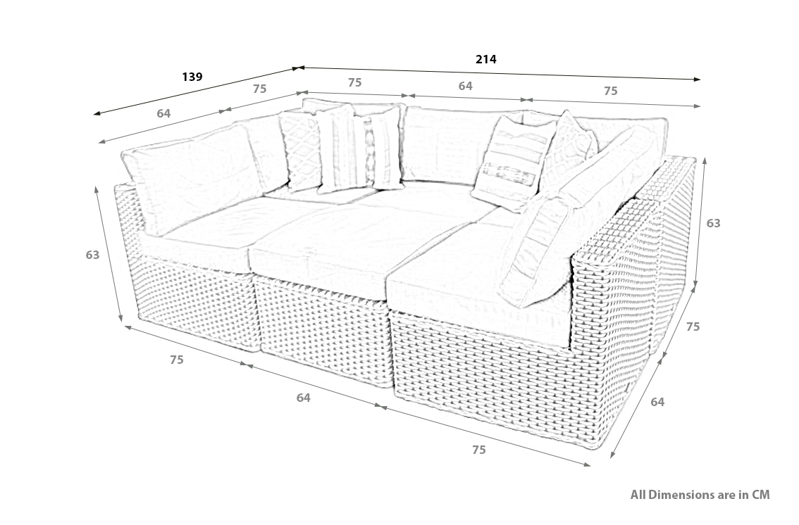 PRODUCT DIMENSIONS_MANCHESTER 6PC MODULAR DAYBED
